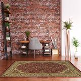 Elegance Isphahan Red & Ivory 8x10 - Linon Home Decor RUG-EE0581