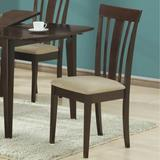 """""""Cappuccino 38""""""""H Side Chairs w/ Micro-Fibre (Set of 2) - Monarch Specialties I-1898"""""""