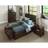 Highlands Full Alex Panel Bed Wth Trundle in Espresso - Hillsdale 11025NT