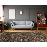 Elegance Damask Brown & Ivory 8x10 - Linon Home Decor RUG-EE2981