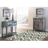 Trio Samu Blue & Ivory 5x7 - Linon Home Decor RUG-TAF0257