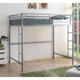 Silver Metal Full Loft Bed - Walker Edison BDOLSL
