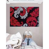 Corfu Damask Black & Red 1.10x2.10 - Linon Home Decor RUG-CU1023
