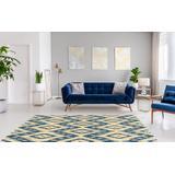Trio Samu Blue & Ivory 8x10 - Linon Home Decor RUG-TAF0281