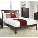 Nevis Queen Size Low Profile Sleigh Bed in Espresso - Modus NV23L5