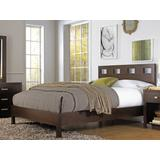 Riva King-size Platform Bed in Chocolate Brown - Modus RV26F7