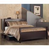 Nevis King-size Platform Storage Bed in Espresso - Modus NV23S7
