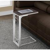 Cherry Top / Antique White Metal Accent Table - Monarch Specialties I-3136