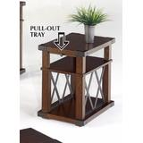 Landmark Chairside Table in Vintage Ash - Progressive Furniture P527-29