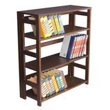 """Flip Flop 34"""" High Folding Bookcase in Mocha Walnut - Regency FF3430MW"""