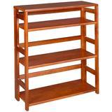 """Flip Flop 34"""" High Folding Bookcase in Cherry - Regency FF3430CH"""