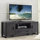 """""""60"""""""" Charcoal Grey Wood TV Stand Console - Walker Edison W60UBC22CL"""""""