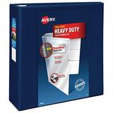 """Avery Heavy Duty View 3 Ring Binder,4"""" One Touch EZD Ring, Holds 8.5"""" x 11"""" Paper, 1 Navy Blue Binder (79804)"""