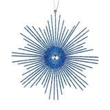 "Vickerman 540428 - 6.5"" Blue Glitter Snowflake Burst Christmas Tree Ornament (6 pack) (M184502)"