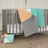 Harriet Bee Rosie Geometric 2 Piece Toddler Bedding Set 100% Cotton in Gray/Green/Orange | Wayfair 926846748B374FE9AEAA4490BF435934
