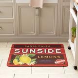 August Grove® Molimo Sunside Lemons Kitchen Mat in Brown, Size 0.5 H x 31.0 W x 22.0 D in   Wayfair 698E102970114CE7AD8499C90F30E38A
