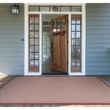Beachcrest Home™ Semaja Maroon Indoor/Outdoor Area Rug Polypropylene in Brown/Red/White, Size 129.0 H x 90.0 W x 0.01 D in | Wayfair