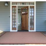 Beachcrest Home™ Semaja Maroon Indoor/Outdoor Area Rug Polypropylene in Brown/Red/White, Size 110.0 H x 70.0 W x 0.01 D in | Wayfair