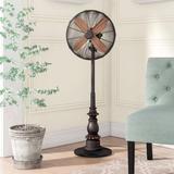Astoria Grand Beyonce Adjustable Oscillating Floor Fan in Brown, Size 49.0 H x 17.0 W x 14.0 D in | Wayfair E1CC851874BB4A668DE3F0EAFFCCA9D4