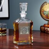 Astoria Grand Alleyton Pewter Crested 23 oz. Whiskey Decanter Glass, Size 10.75 H x 5.0 W in | Wayfair ATGD4676 39504882
