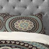 Bungalow Rose Ledbetter Mandala Paisley Pillowcase in Blue/Brown/Green, Size King   Wayfair DF02B85112364920A9999E433999A21D
