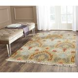 Bungalow Rose Saint-Paul Ikat Hand-Woven Flatweave Beige/Green/Brown Area Rug Polypropylene in Brown/Green/White, Size 144.0 H x 108.0 W x 0.5 D in