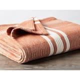 Coyuchi Cirrus Stripe Cotton Throw Cotton in Orange, Size 50.0 W in | Wayfair 1021451