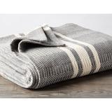 Coyuchi Cirrus Stripe Cotton Throw Cotton in Gray, Size 50.0 W in | Wayfair 1021452
