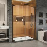 "DreamLine Elegance-LS 47.25"" W x 72"" H Pivot Frameless Shower Door w/ ClearMax Technology Tempered Glass in Brown | Wayfair SHDR-4325240-06"