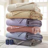 Darby Home Co Muni Sherpa Blanket or Throw in Indigo, Size 101.0 H x 90.0 W in | Wayfair DBHM1242 40541602