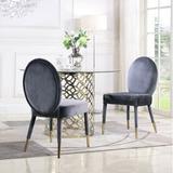 Mercer41 Tepper Upholstered Dining Chair Upholstered/Velvet in Gray, Size 37.0 H x 19.1 W x 24.2 D in | Wayfair 61A993E5621A4F41A07E82BA9242EC96