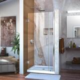 "DreamLine Unidoor 36"" W x 72"" H Hinged Frameless Shower Door Tempered Glass in Gray, Size 72.0 H in | Wayfair SHDR-20367210-01"