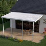 Heritage Patios 34 ft. W x 8 ft. D Metal Standard Patio Awning Metal in White, Size 120.0 H x 408.0 W x 96.0 D in | Wayfair H1P251006700834