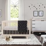 babyletto Tuxedo Monochrome Nursery 5 Piece Crib Bedding Set, Cotton in Gray/Black   Wayfair T11260
