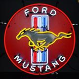 """Neonetics Ford Mustang Neon Sign in Red, Size 24""""H X 24""""W X 4""""D 