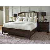 Barclay Butera Brentwood Upholstered Low Profile Platform Bed Wood & Upholstered/Upholstered/Polyester/Polyester blend in Brown | Wayfair