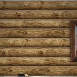 "Millwood Pines Fawley Log Cabin 33' L x 20.5"" W Texture Wallpaper Roll, Fabric in Cedar, Size 27""H X 27""W | Wayfair"