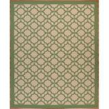 Longshore Tides Emilia Flatweave Beige/Green Rug Polypropylene in Brown/Green/White, Size 84.0 H x 29.0 W x 0.2 D in | Wayfair