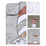 Trend Lab Dr. Seuss Peek-a-Boo Cat in the Hat 4 Piece Crib Bedding Set Polyester/Cotton in Gray/White, Size 40.0 W in | Wayfair 30645