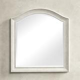 Birch Lane™ Dario Arched Dresser Mirror Wood in Brown/White, Size 36.0 H x 33.0 W x 2.0 D in | Wayfair ROHE3589 40814453