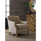 """Tommy Bahama Home Los Altos 30.5"""" Wide Polyester Down Cushion Armchair Polyester/Polyester blend/Fabric in Brown/Gray 