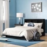 South Shore Step One Full Platform Bed w/ Drawers Wood in Black, Size 40.25 H x 56.0 W x 76.25 D in   Wayfair 10034