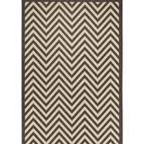 Brayden Studio® Hughes Brown/Beige Indoor/Outdoor Area Rug Polypropylene, Size 96.0 H x 60.0 W x 0.2 D in   Wayfair
