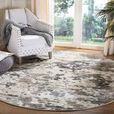 Union Rustic Capuano Taupe/Ivory Area Rug Polyester/Polypropylene in Brown/White, Size 79.0 W x 0.51 D in   Wayfair