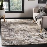 Union Rustic Capuano Taupe/Ivory Area Rug Polyester/Polypropylene in Brown/White, Size 63.0 W x 0.51 D in   Wayfair