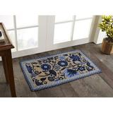 Winston Porter Quesenberry Floral Braided Wedgewood Area Rug Jute & Sisal in Blue, Size 72.0 H x 48.0 W x 0.75 D in | Wayfair