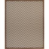 Brayden Studio® Hughes Brown/Beige Indoor/Outdoor Area Rug Polypropylene, Size 72.0 H x 48.0 W x 0.2 D in   Wayfair