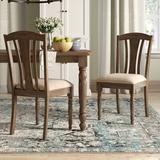 Three Posts™ Darold Side Chair Slat Back in Weathered GreyUpholstered/Fabric in Brown, Size 38.0 H x 18.25 W x 22.0 D in | Wayfair
