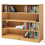 Whitney Brothers® Shelf Cabinet Bookcase Wood in Brown, Size 42.0 H x 48.0 W x 15.0 D in   Wayfair WB1850