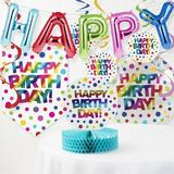 The Party Aisle™ Rainbow Foil Birthday Paper Disposable Decoration Kit Paper in Blue/Green/Red   Wayfair C729F27BDA3A4853A4CC865029B3CEE2
